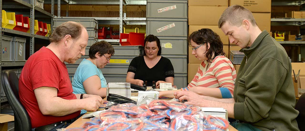 Werkstätten - Arbeitsbereich Verpackung, Konfektion und Montage