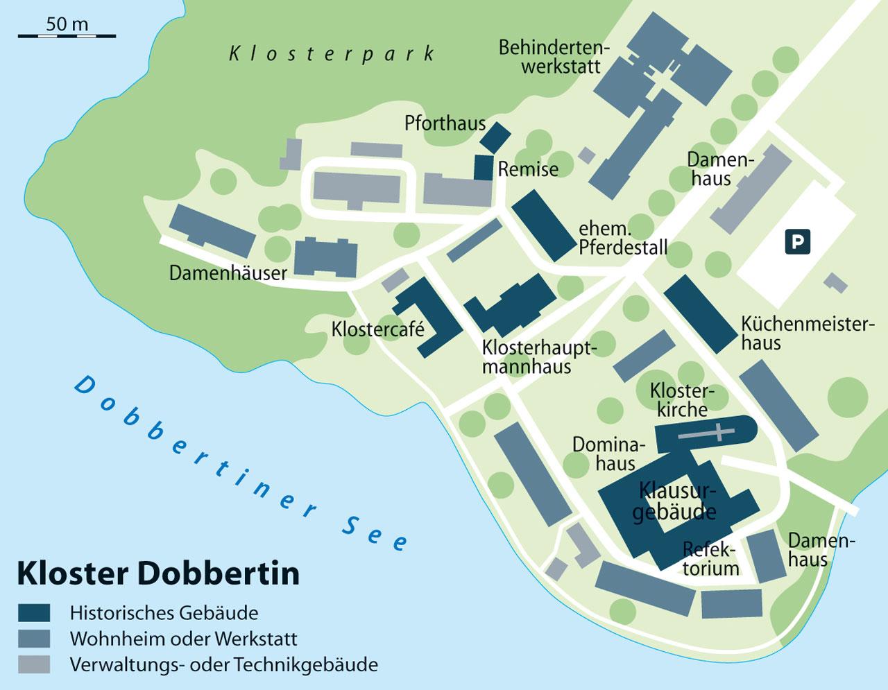 Kloster Dobbertin - Karte