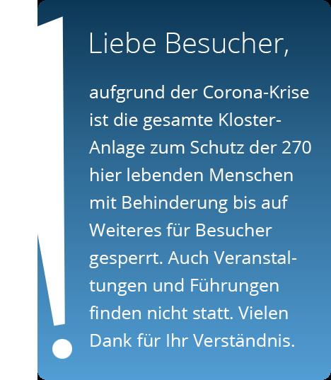 Corona: Sperrung des Kloster-Geländes